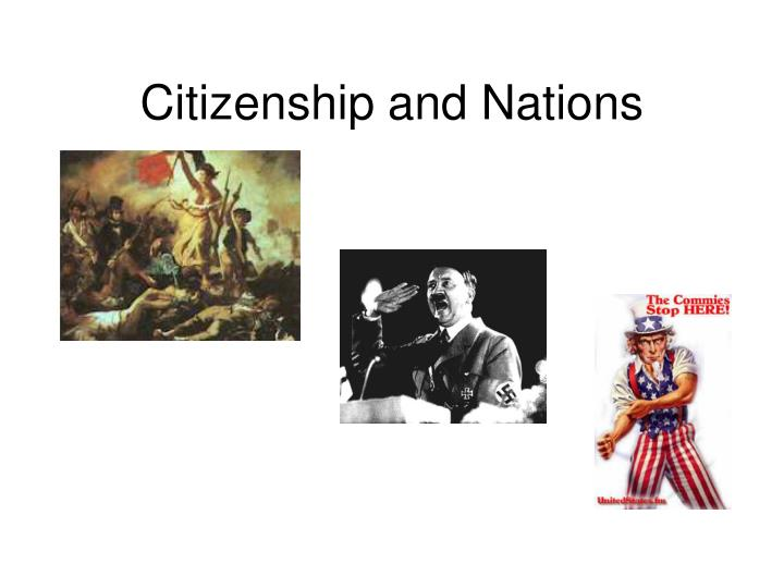 Citizenship and nations