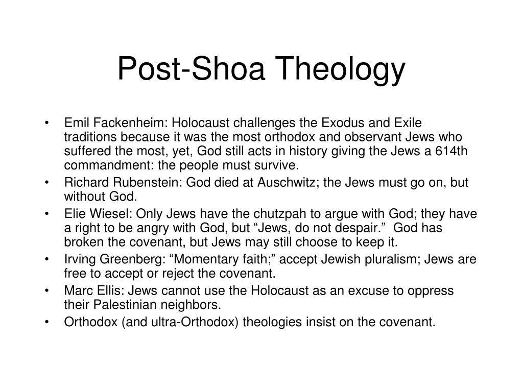 Post-Shoa Theology