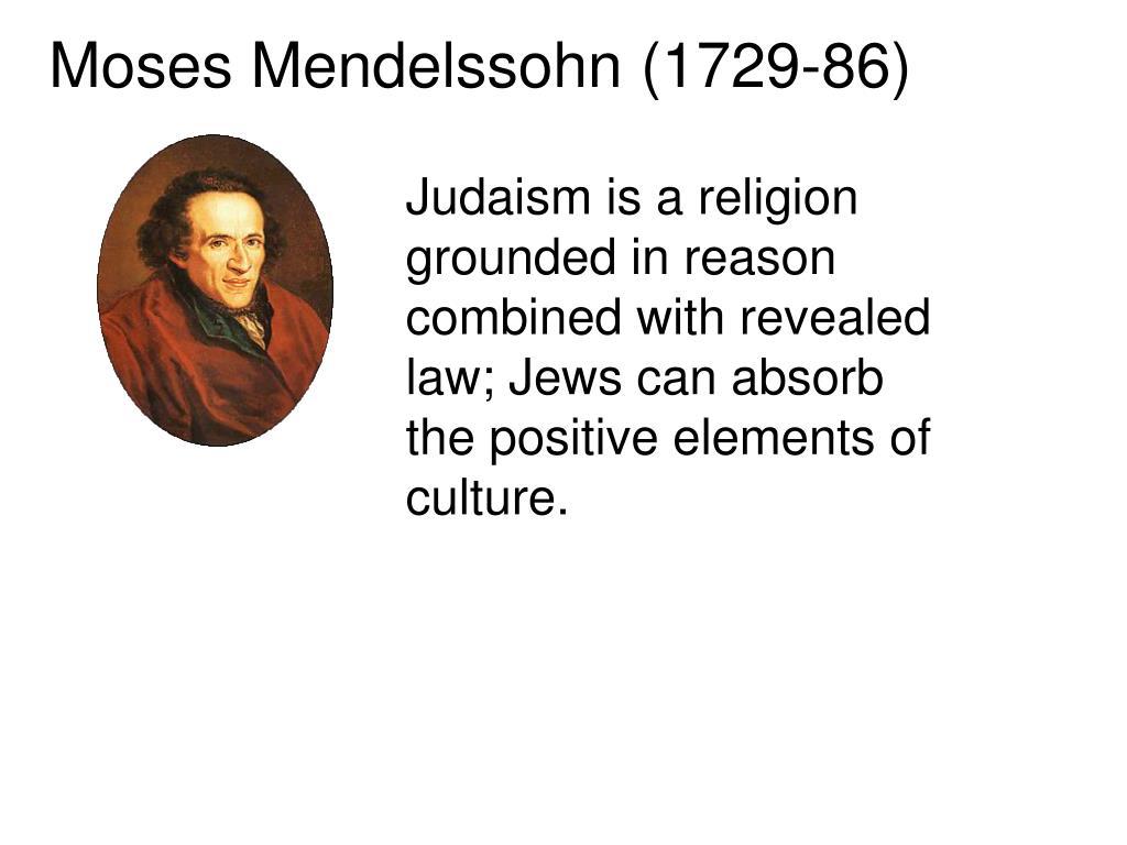 Moses Mendelssohn (1729-86)