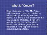 what is ombre