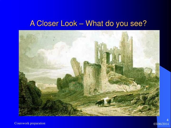 A Closer Look – What do you see?
