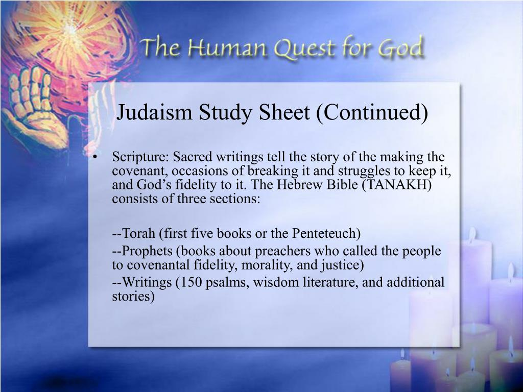 Judaism Study Sheet (Continued)