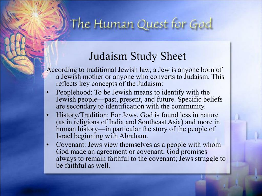 Judaism Study Sheet
