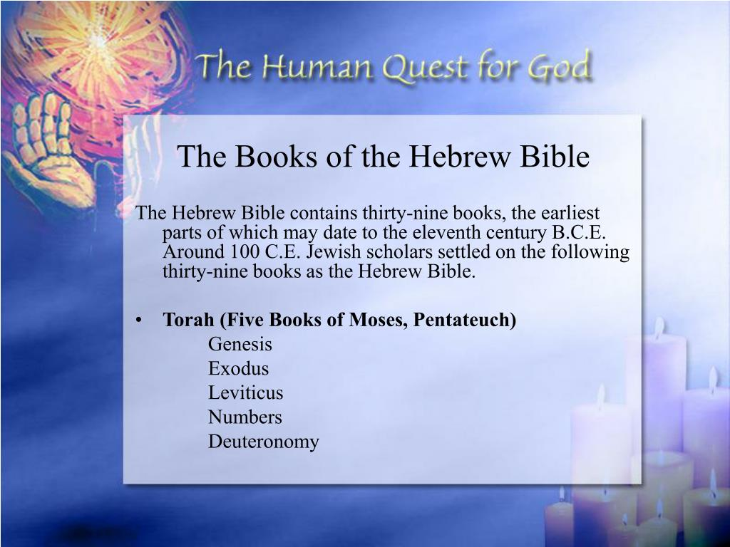 The Books of the Hebrew Bible