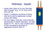 holiness isaiah