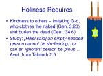 holiness requires