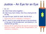 justice an eye for an eye