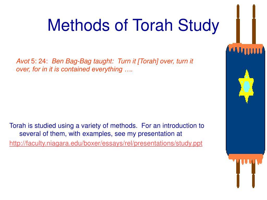 Methods of Torah Study