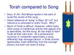 torah compared to song