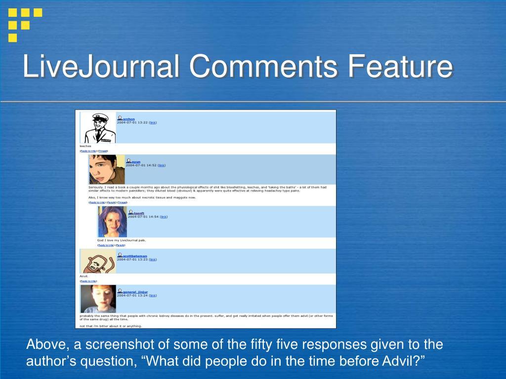 LiveJournal Comments Feature