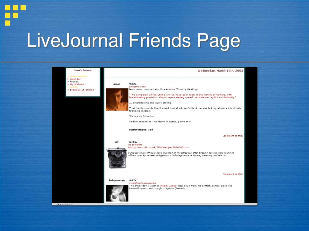 LiveJournal Friends Page