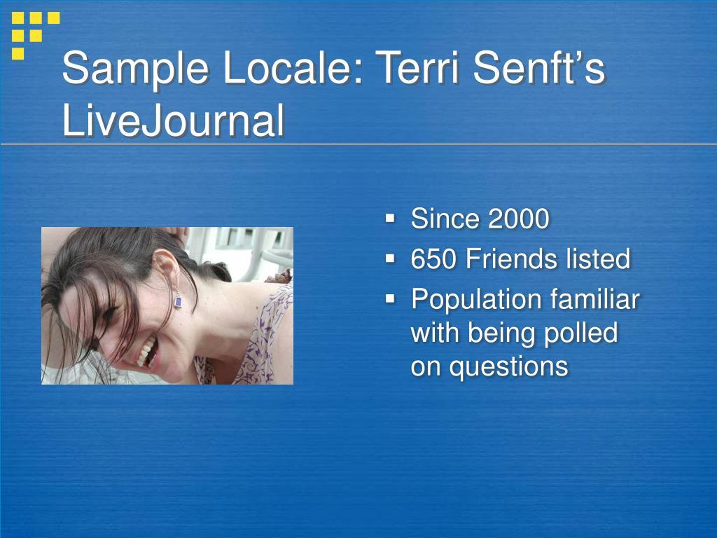 Sample Locale: Terri Senft