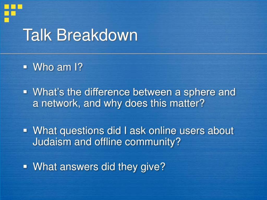 Talk Breakdown