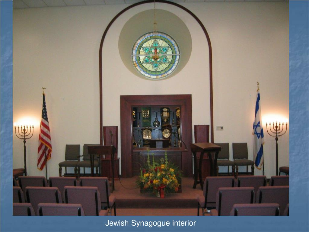 Jewish Synagogue interior