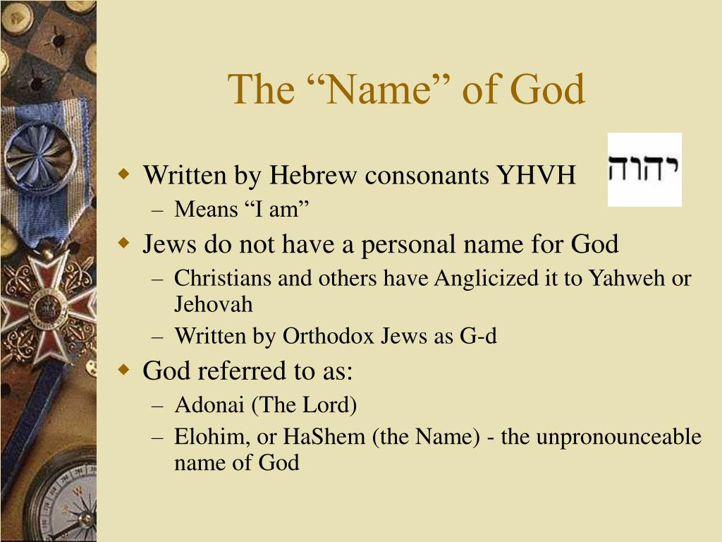"The ""Name"" of God"