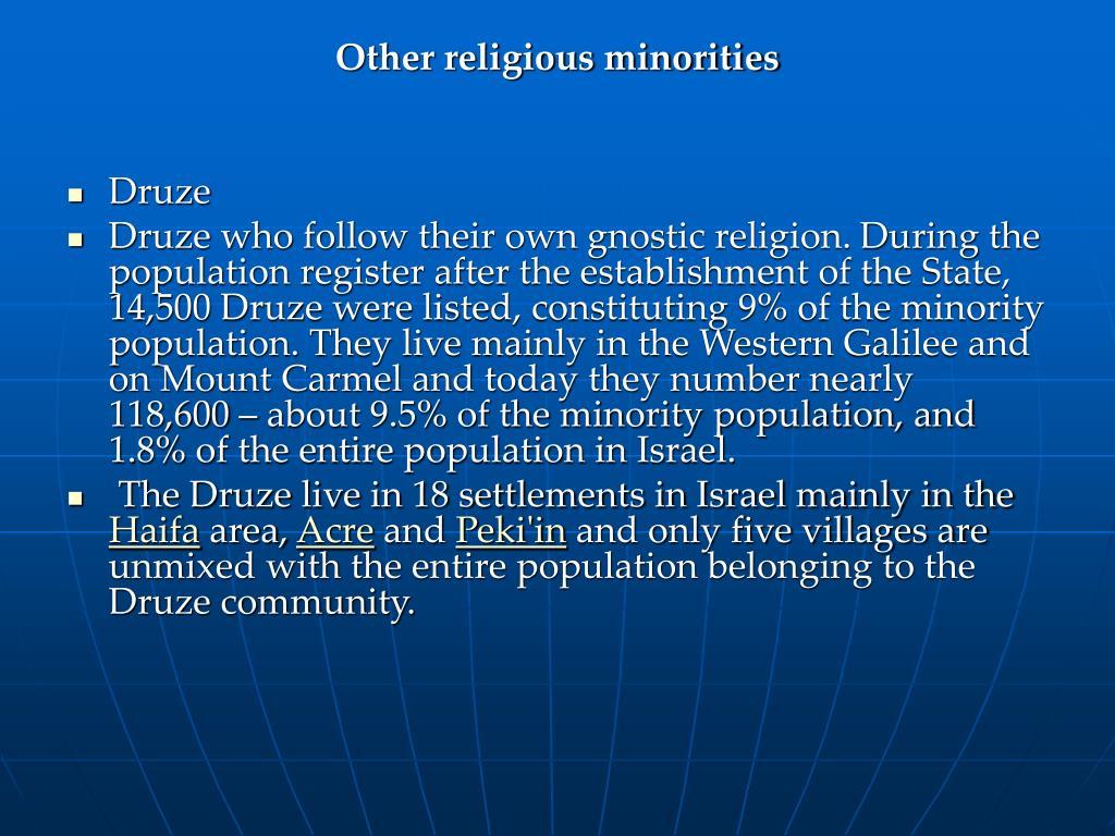 Other religious minorities