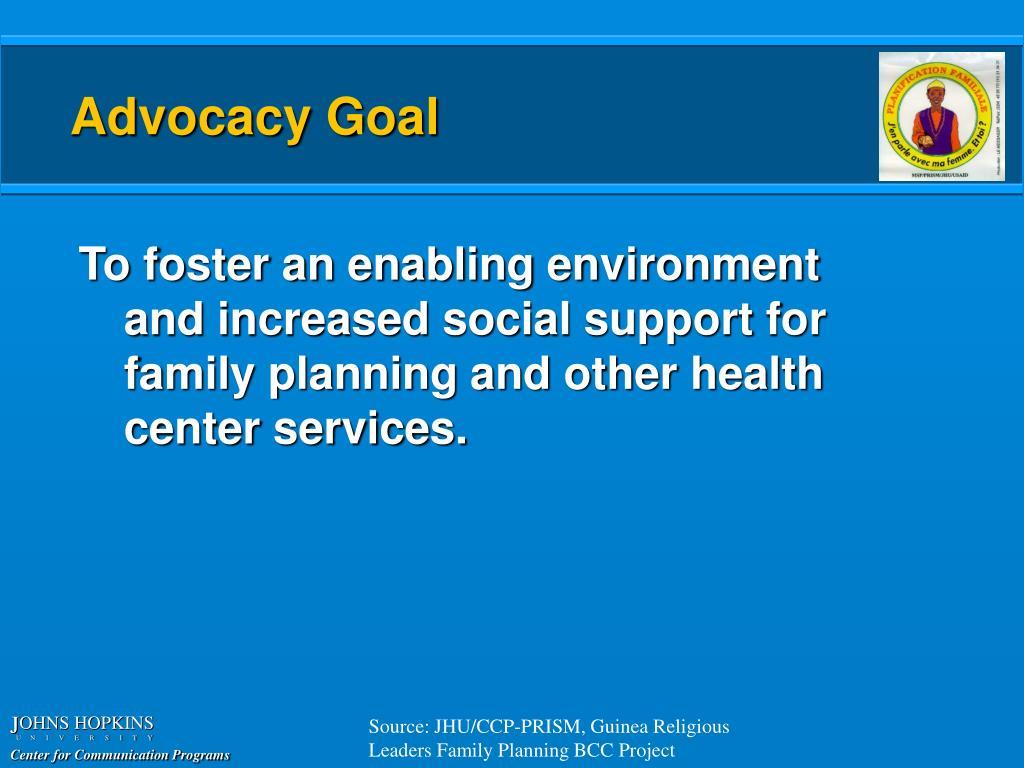 Advocacy Goal