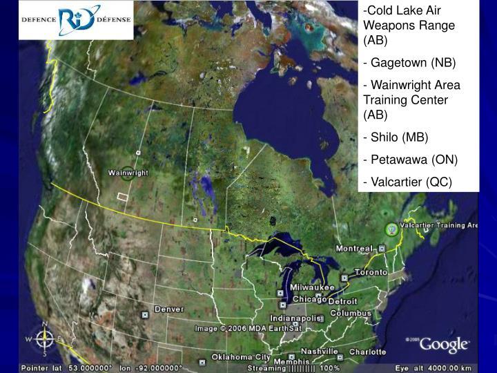 Cold Lake Air        Weapons Range  (AB)