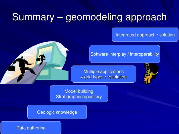 Summary – geomodeling approach