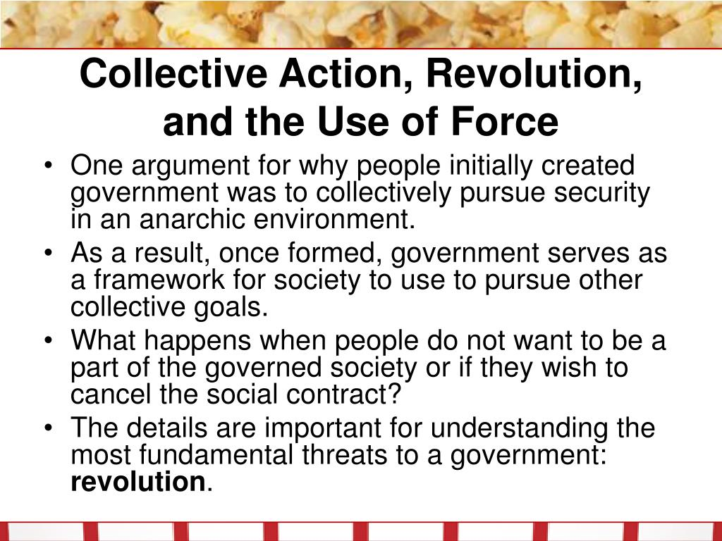 Collective Action, Revolution, and the Use of Force