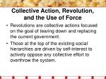 collective action revolution and the use of force11
