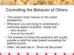 controlling the behavior of others3