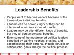 leadership benefits