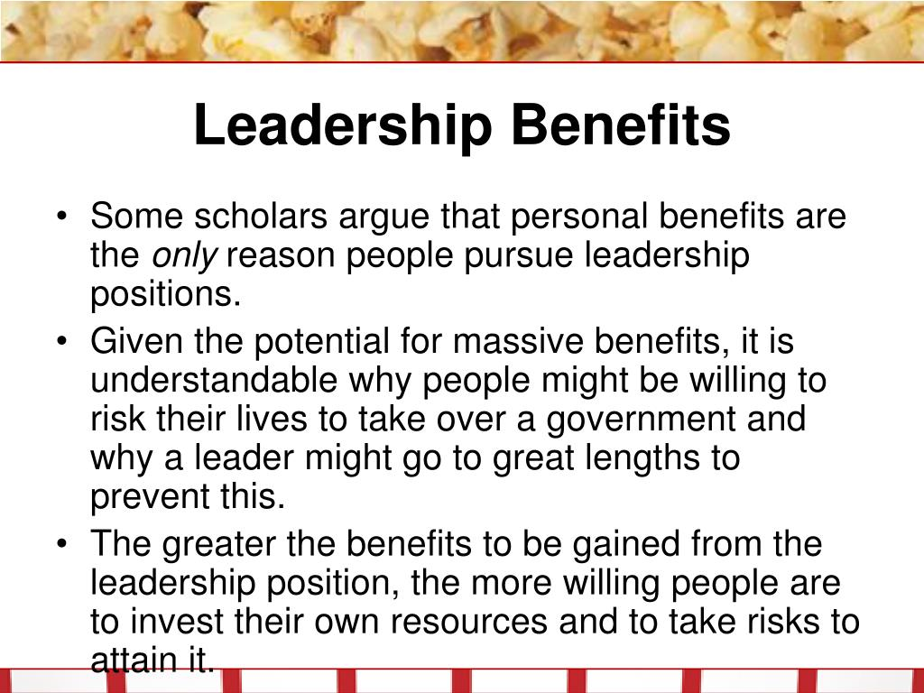 Leadership Benefits