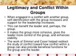 legitimacy and conflict within groups24