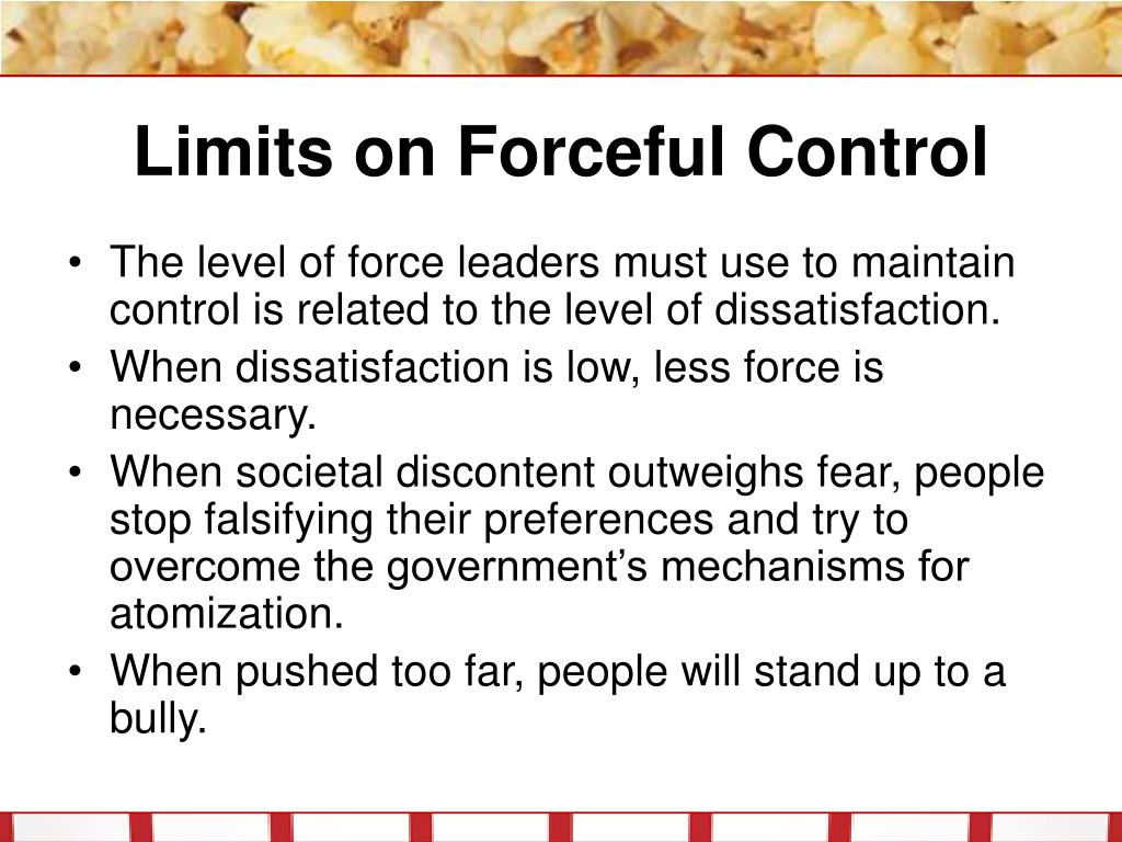 Limits on Forceful Control