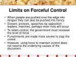 limits on forceful control17