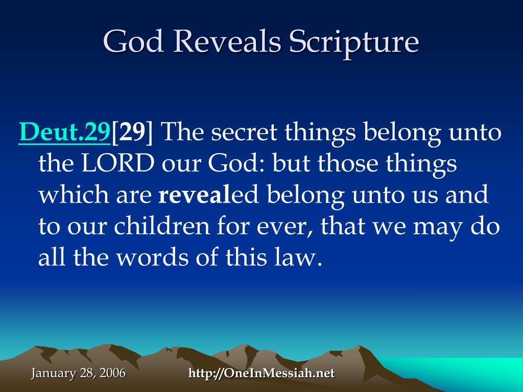 God Reveals Scripture