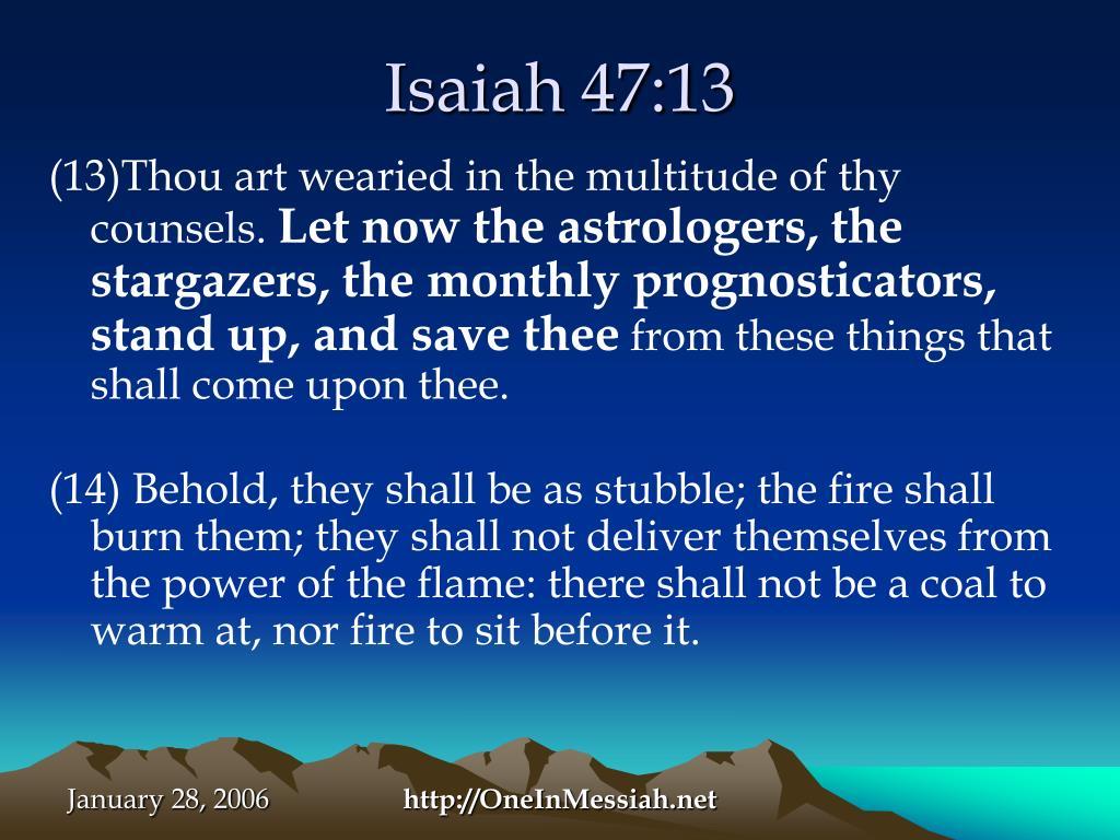 Isaiah 47:13