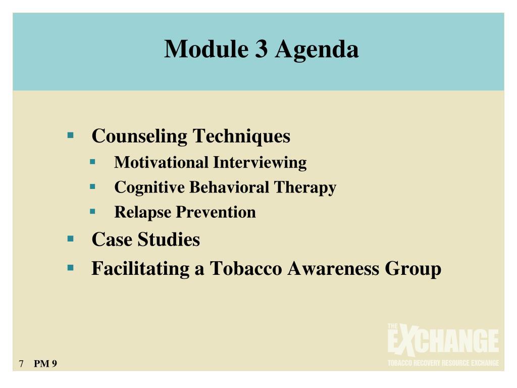 Module 3 Agenda
