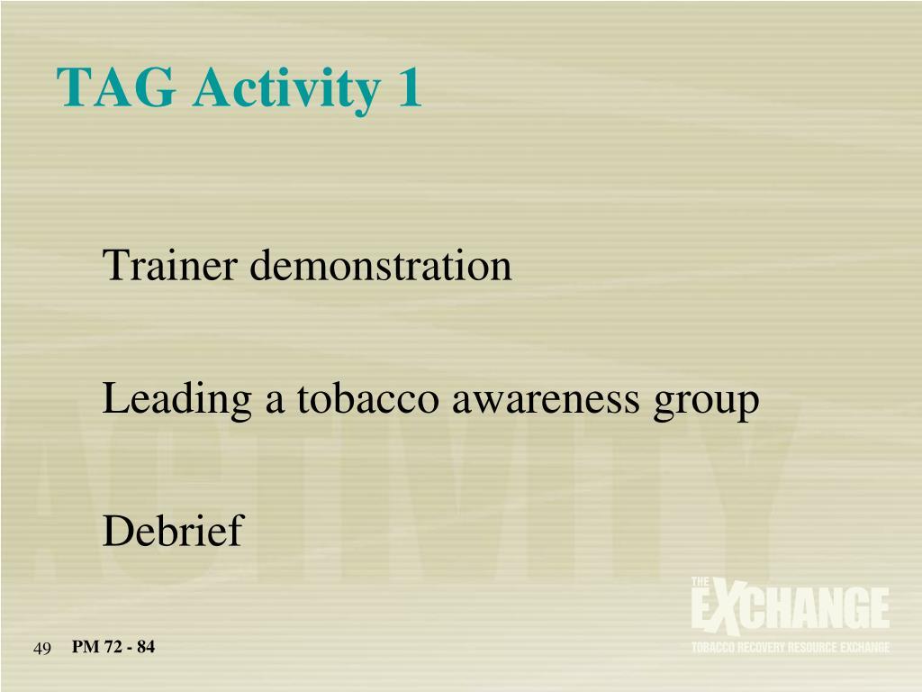 TAG Activity 1