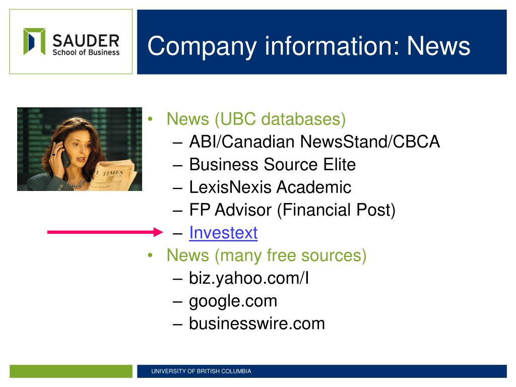 Company information: News