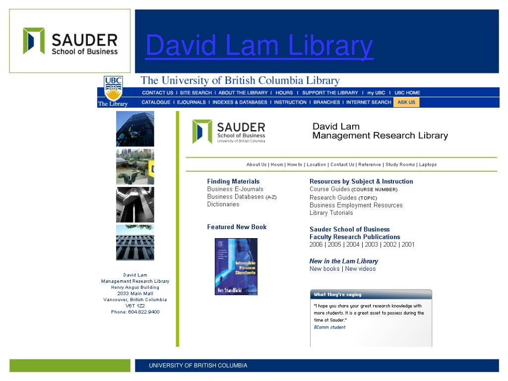 David Lam Library