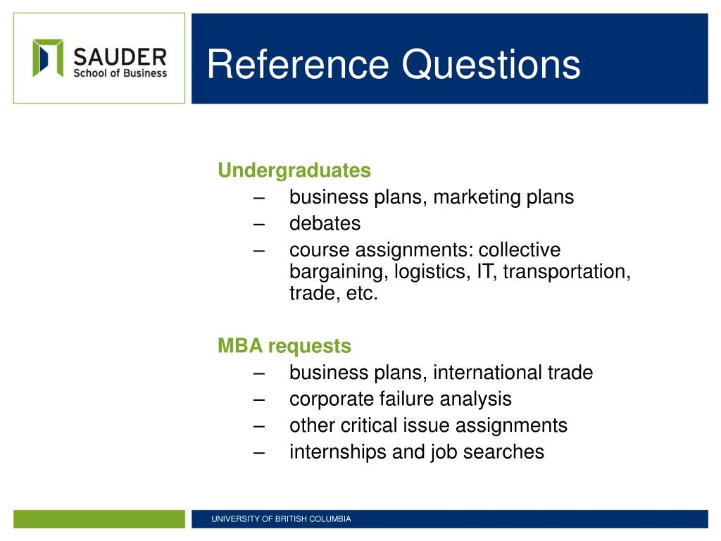 Reference Questions