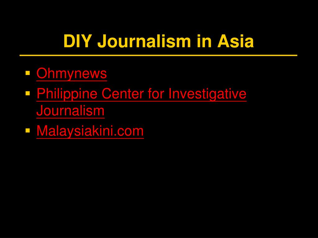 DIY Journalism in Asia