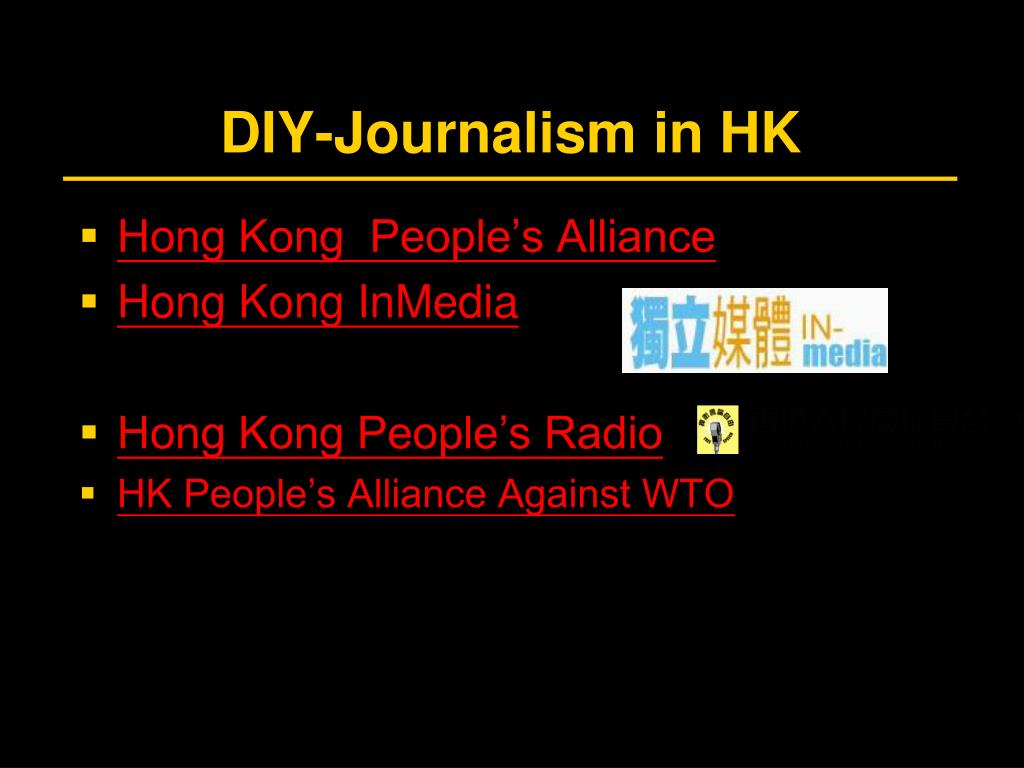DIY-Journalism in HK