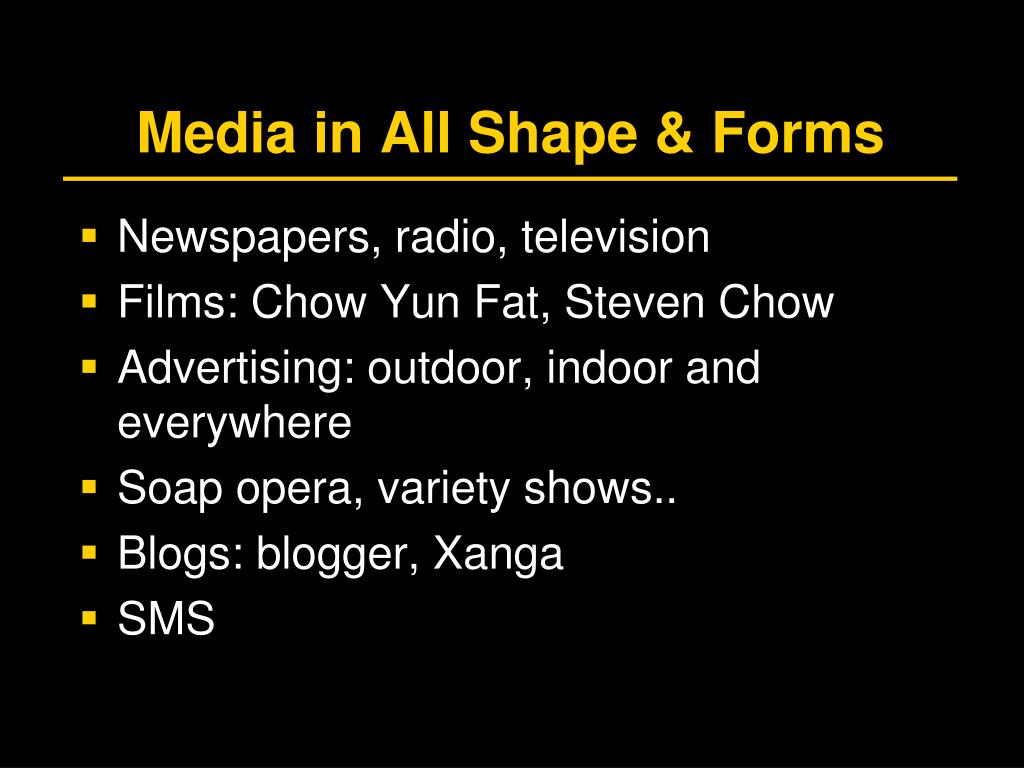 Media in All Shape & Forms