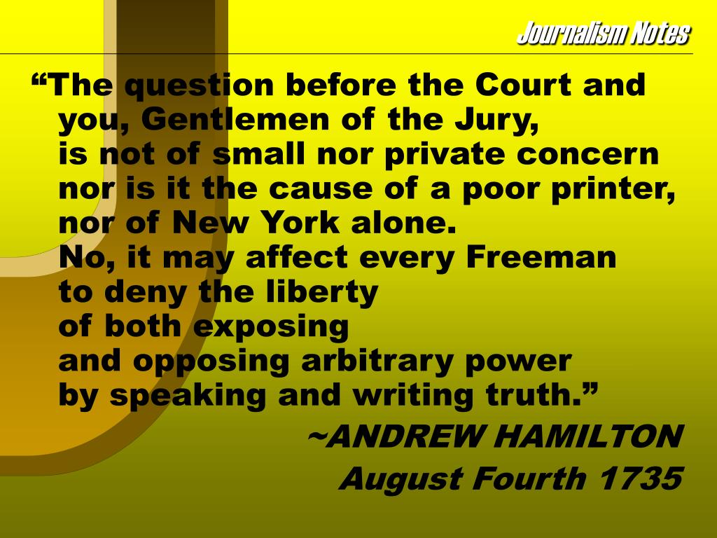 """The question before the Court and you, Gentlemen of the Jury,"