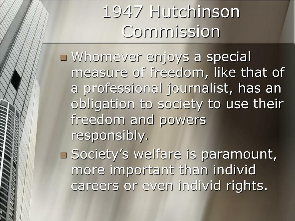 1947 Hutchinson Commission