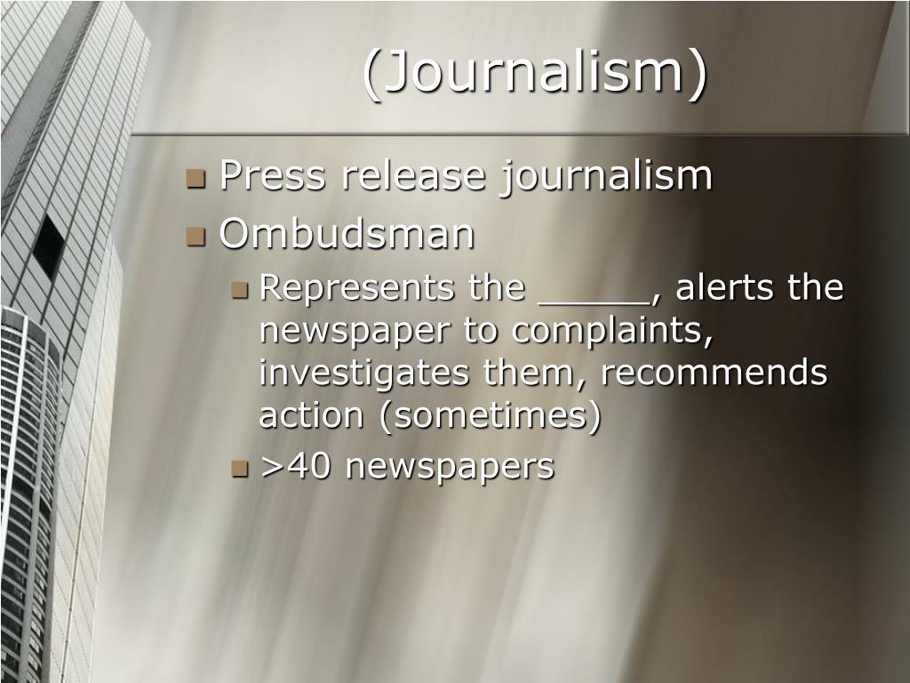 (Journalism)