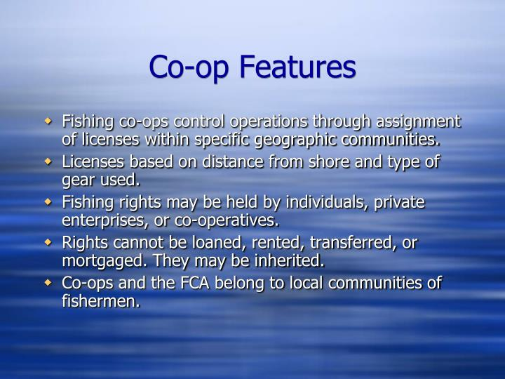 Co-op Features
