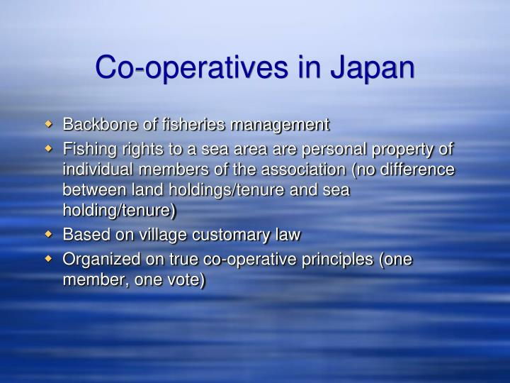 Co-operatives in Japan