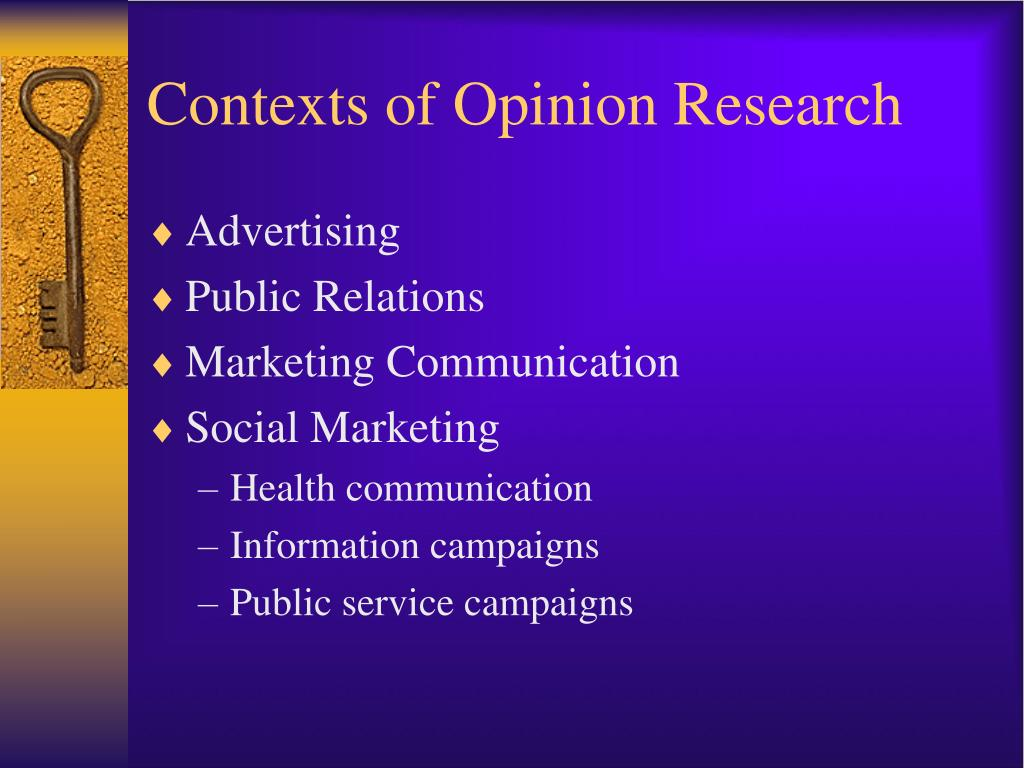 Contexts of Opinion Research