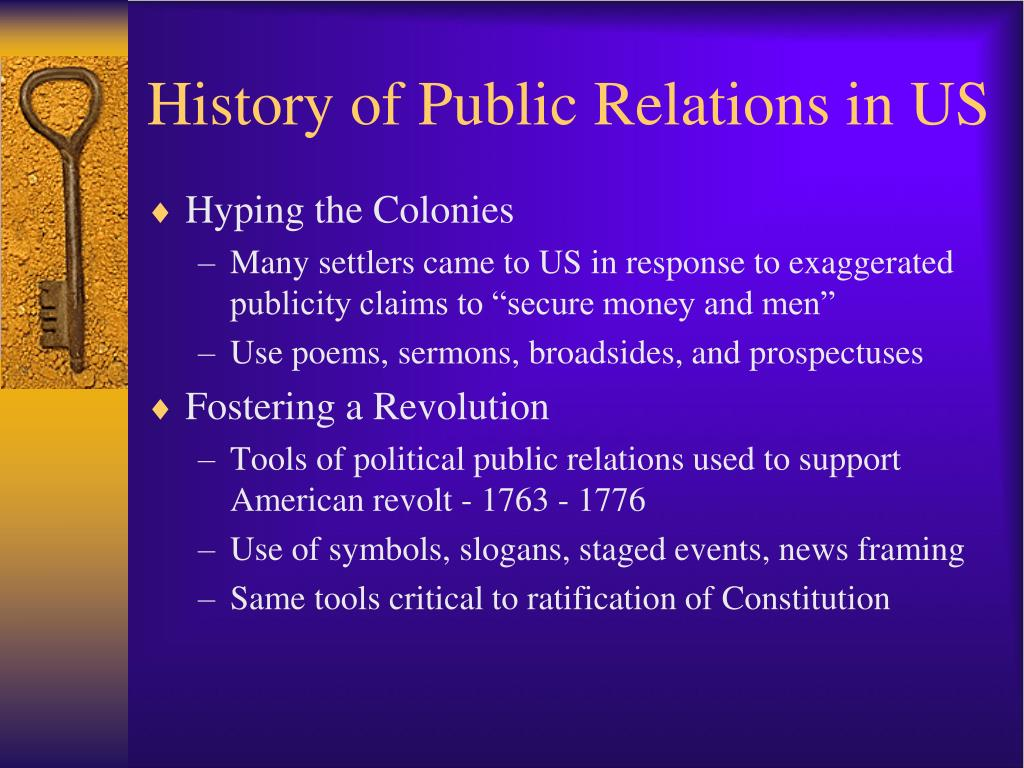 History of Public Relations in US