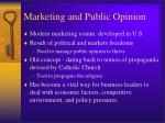 marketing and public opinion