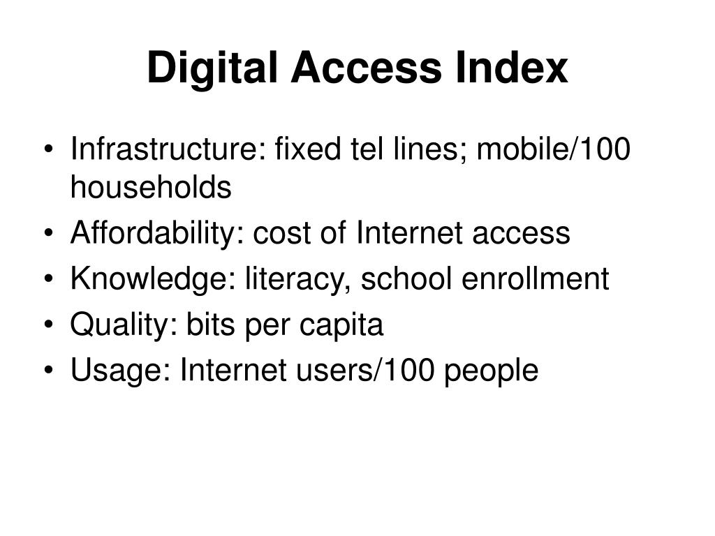 Digital Access Index